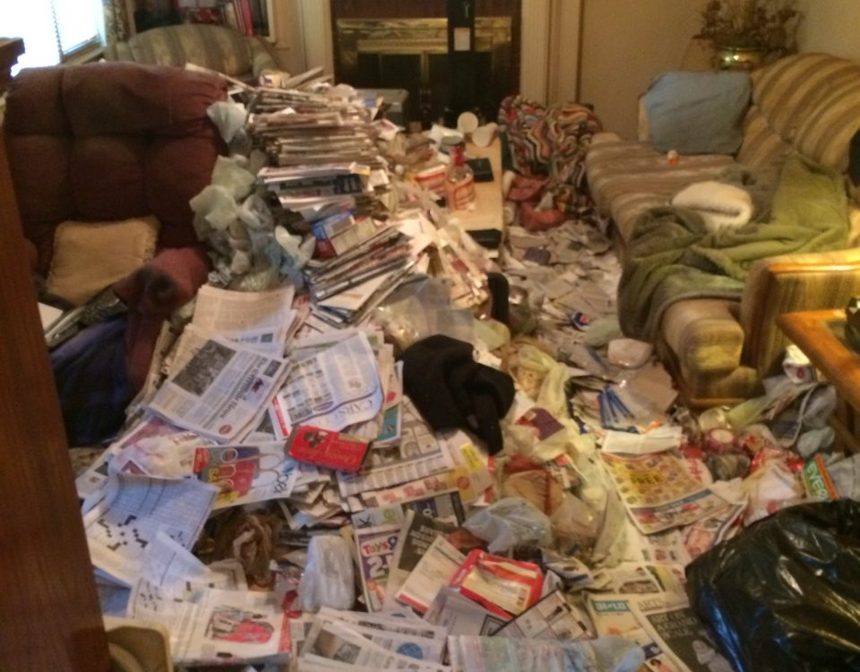 clean a hoarder's house