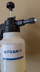use a foamer for bed bug feces