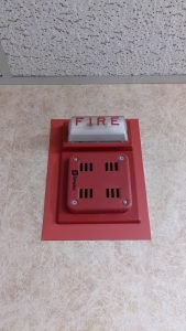 janitorial service fire extinguisher light